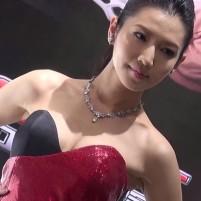 超美形キャンギャルの卑猥なワキの下 北京モーターショー
