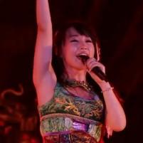水樹奈々ちゃん(声優、歌手)の適度に熟した腋は汗でムンムンのはず!