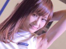 【4K画質】ワキの毛穴のブツブツまでしっかりと見えるほど!東京オートサロン2015の超美人系キャンギャル
