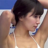 【高画質ワキフェチ動画】少し剃り残しのありそうなエロいワキの下を晒す階戸瑠李