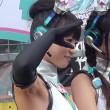 【高画質ワキフェチ動画】卑猥に黒ずんだワキの下を撮られてしまったセクシーレースクイーン