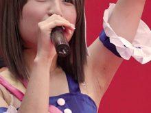 【高画質ワキフェチ動画】真夏のステージでジョリワキに滴るほどワキ汗をかきながら歌うアイドルマスター雪歩コスの素人レイヤー