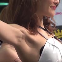 【高画質ワキフェチ動画】キレイなセクシーキャンギャルの汚いジョリワキをドアップで!