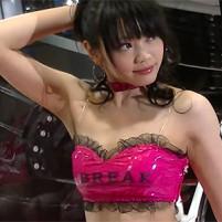 フェロモンたっぷりのエロすぎるワキの下を晒してくれるセクシーキャンギャル 東京オートサロン2015