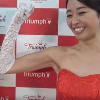 【高画質ワキフェチ動画】力こぶよりもキレイに処理されたツルワキの方が魅力的なトリンプイメージガールの中川知香