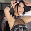 【高画質ワキフェチ動画】東京オートサロン2016で完璧なツルワキを披露してくれたセクシーキャンギャル