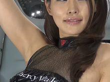 【高画質ワキフェチ動画】セクシーキャンギャルの完璧過ぎるワキマンコ 東京オートサロン2016