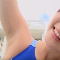 【高画質ワキフェチ動画】ムッチリしたワキの下がいやらしい競泳水着のグラドル村上友梨