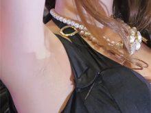 【高画質ワキフェチ動画】綺麗に処理したセクシーキャンギャルのワキの下がキラっと光るのはワキ汗?