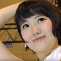 【高画質ワキフェチ動画】エクボのカワイイ激カワキャンギャルのワキの下が剃り残したっぷりのジョリワキ