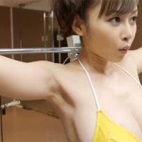 【高画質ワキフェチ動画】筋張ったワキの下が妙に卑猥に見える杉原杏璃