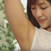 【高画質ワキフェチ動画】激カワモデルの最高に美しいツルワキを超高画質で!