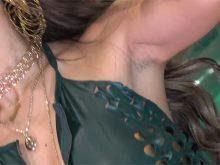 【高画質ワキフェチ動画】処理の甘いジョリワキのままイベントで撮影されまくるセクシーキャンギャル
