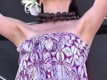 【高画質ワキフェチ動画】綺麗に処理したワキの下をほぼ見せっぱなしでハワイアンダンスを踊る素人美女