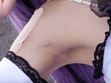 【高画質ワキフェチ動画】綺麗に処理されたワキの下が艶めかしいコスプレ娘