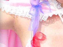 【高画質ワキフェチ動画】恥ずかしがることもなくワキ見せポーズ取りまくりなコスプレイヤー