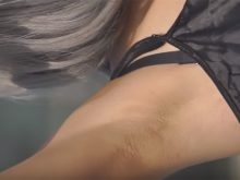 【高画質ワキフェチ動画】毛穴の目立つワキの下を見せつけまくるコスプレイヤー