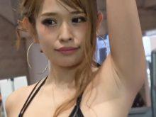 【高画質ワキフェチ動画】巨乳だし腋の下もしっかりサービスしてくれるし申し分ないキャンギャル 東京オートサロン2019