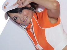 東京ゲームショウの美人キャンギャルが袖からワキがチラ見えしてるのがメチャエロい!