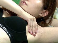 【高画質ワキフェチ動画】ジョリワキを晒すことになってしまったバストアップ体操の素人モデル