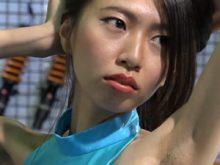 剃り残しのあるジョリワキを撮影されてしまった美人キャンギャル