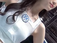 【高画質ワキフェチ動画】東京モーターショウのキャンギャルの完璧に処理されたツルワキをベロベロ舐めたい!