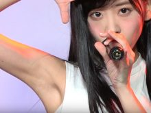【高画質ワキフェチ動画】完璧なツルワキを見せつけるように踊るピンク・ベイビーズの櫻井優衣