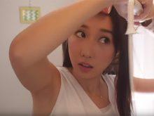 【高画質ワキフェチ動画】ヘアアレンジでいやらしいワキの下をサービスしてくれるメイクタレント「かじえり」